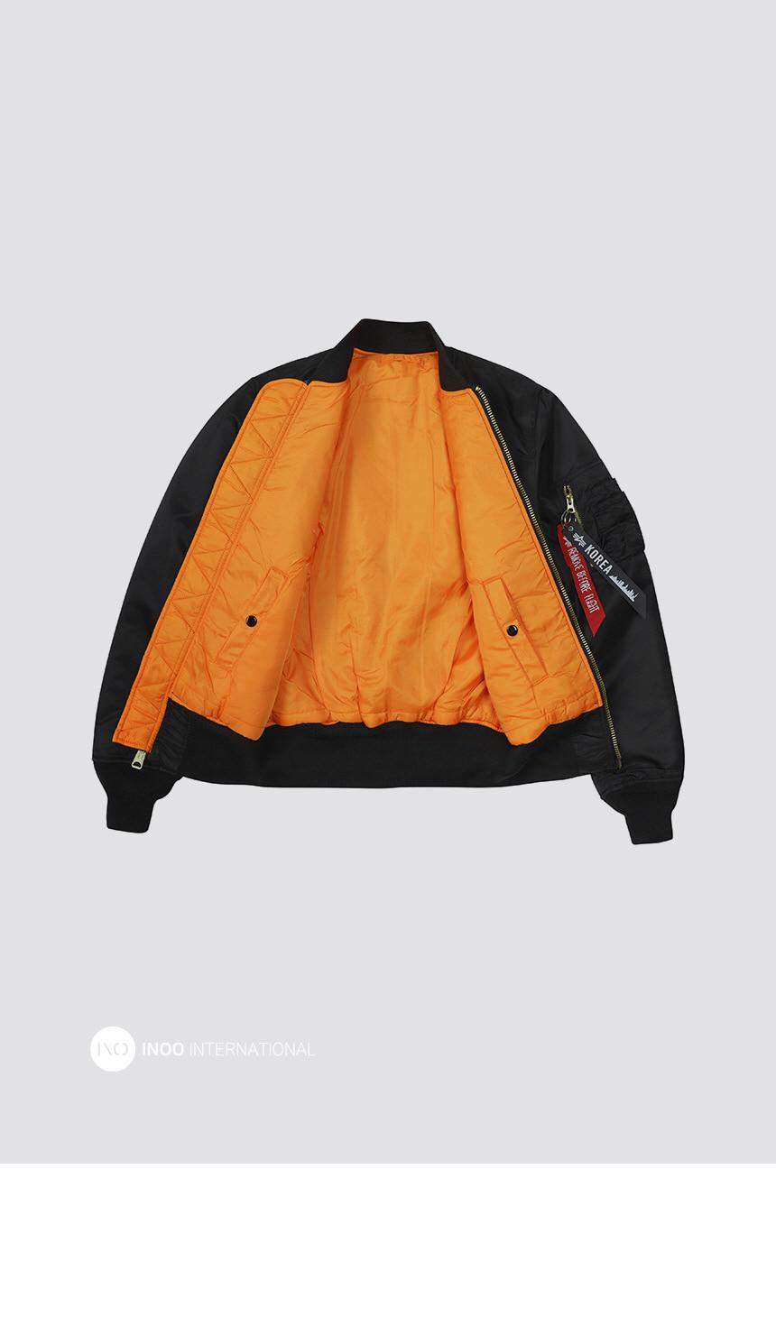 알파인더스트리 MA-1 레귤러 BLACK - 알파인더스트리, 193,500원, 아우터, 자켓