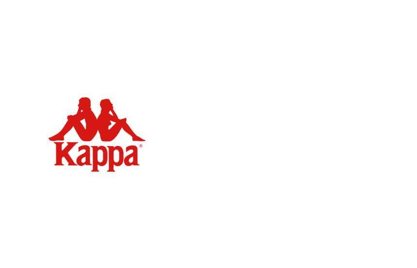 카파(KAPPA) 222반다 로고 브라탑 오프화이트 KKSL321FN
