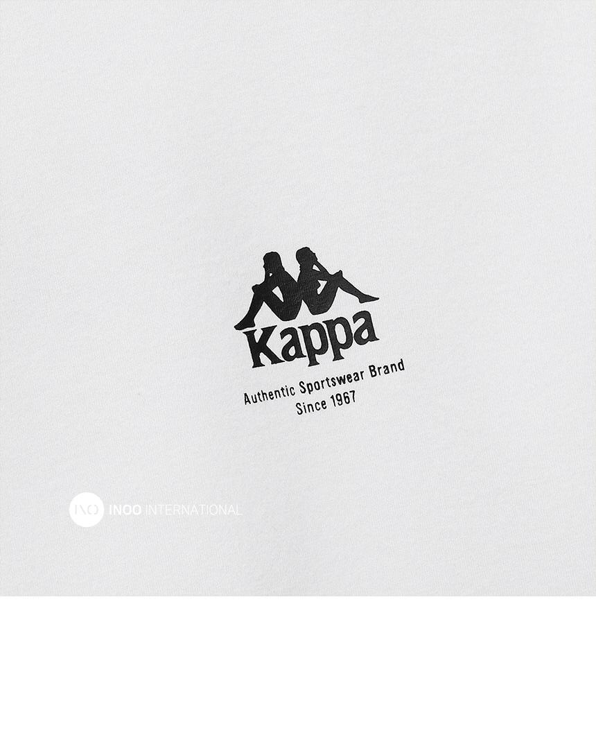 카파(KAPPA) 222반다 KAPPA 레터링 반팔티 화이트 KKRS297MD