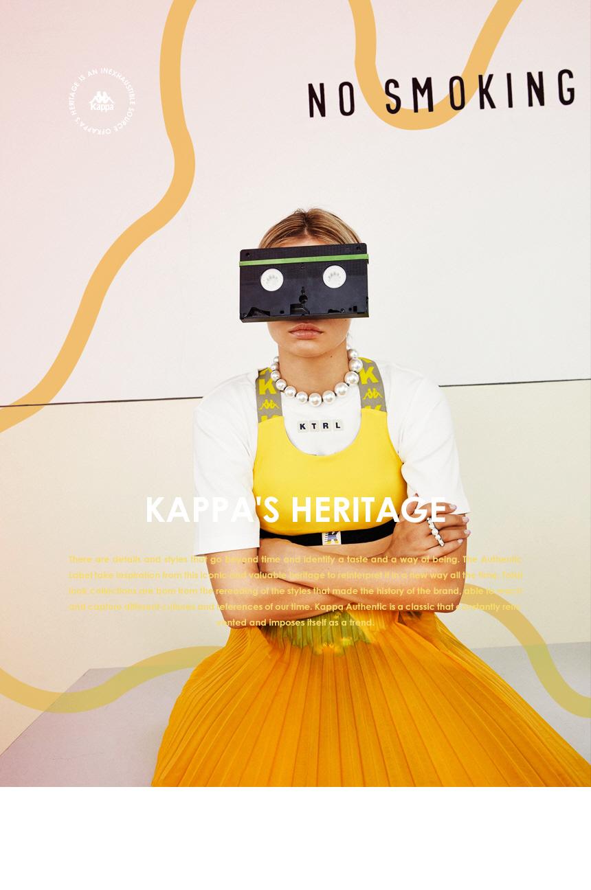 카파(KAPPA) 체인 PVC 미니 크로스백 블랙 KLBA254UN
