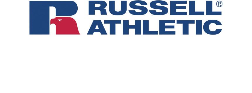 러셀 애슬레틱(RUSSELL ATHLETIC) 로고 풀오버 오버핏후드티 NAVY